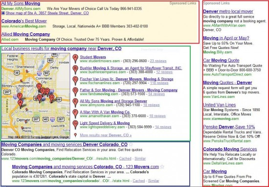 Local Search Results Page