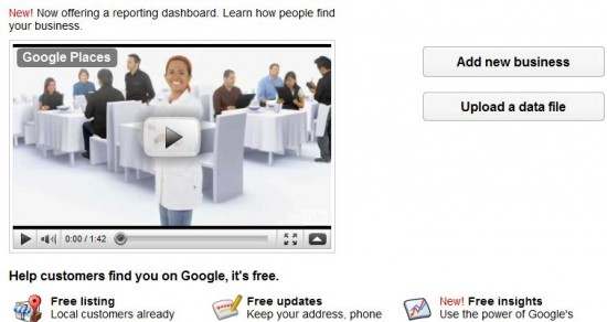 Google Places - Add New Business