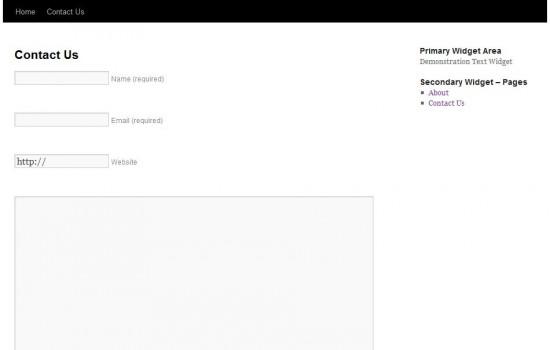 Wordpress.com Contact Form