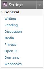 Wordpress.com Settings