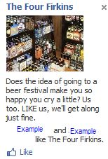 Four Firkins Liked Facebook Ad