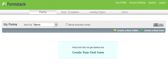 Formstack Create Your First Form
