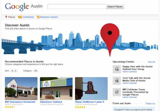 Google City Directory Austin