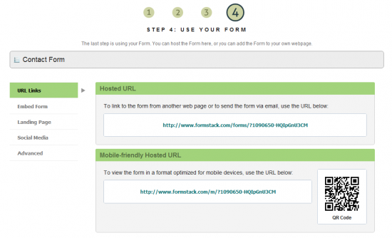 Use Your Formstack Form - Step 4