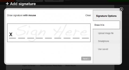 HelloFax Signature Box