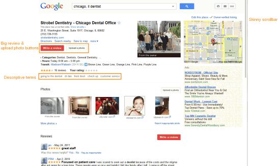 New Google Places Top Half