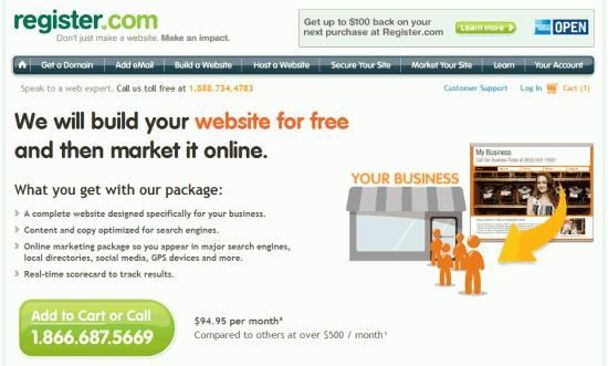 Registercom We Build It For You Offer